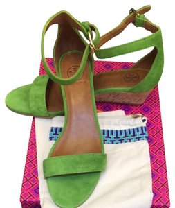 Tory Burch Leaf Green Sandals