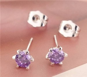 Amethyst Stud Earrings Free Shipping