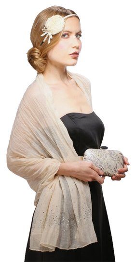 Mariell Luxurious Crinkle Shawl with Scattered Crystals - 3556W-CH