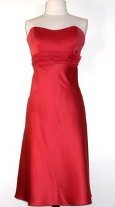 Alfred Angelo Spice Satin / Organza Style 7074 Casual Bridesmaid/Mob Dress Size 8 (M)