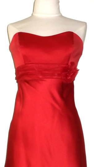 Alfred Angelo Spice Satin / Organza Style 7074 Casual Dress Size 8 (M)