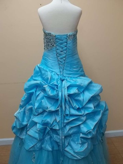 Impression Bridal Aqua Taffeta 41025 Formal Bridesmaid/Mob Dress Size 10 (M)