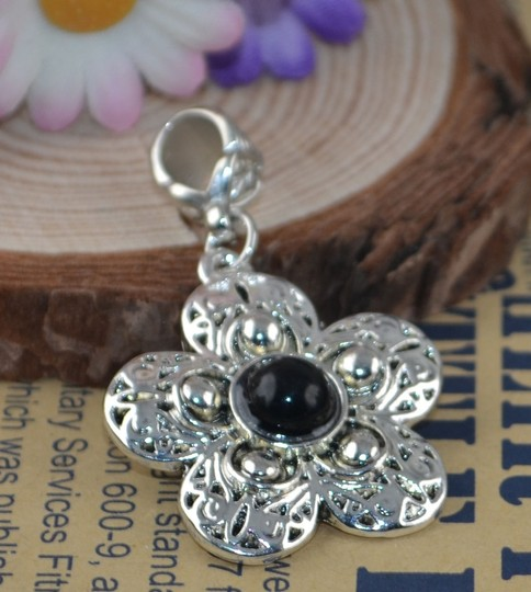 Preload https://item5.tradesy.com/images/silver-bogo-free-black-tibet-pendant-wchain-free-shipping-necklace-3821734-0-0.jpg?width=440&height=440