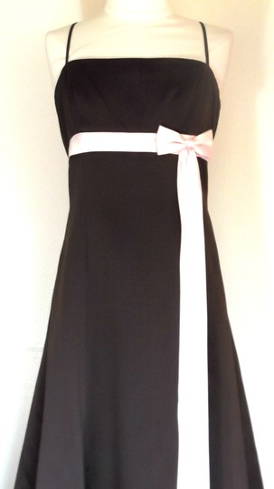 Alfred Angelo Chocolate / Light Pink Satin Style 6133 Formal Dress Size 8 (M)