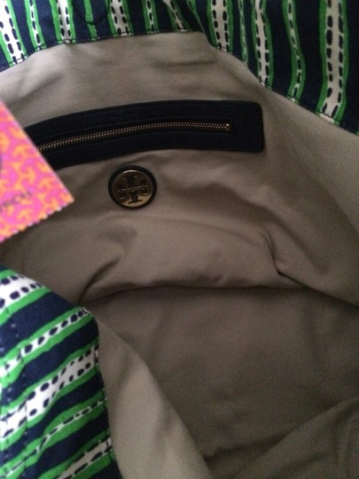 Tory Burch Tote in Green Blue White