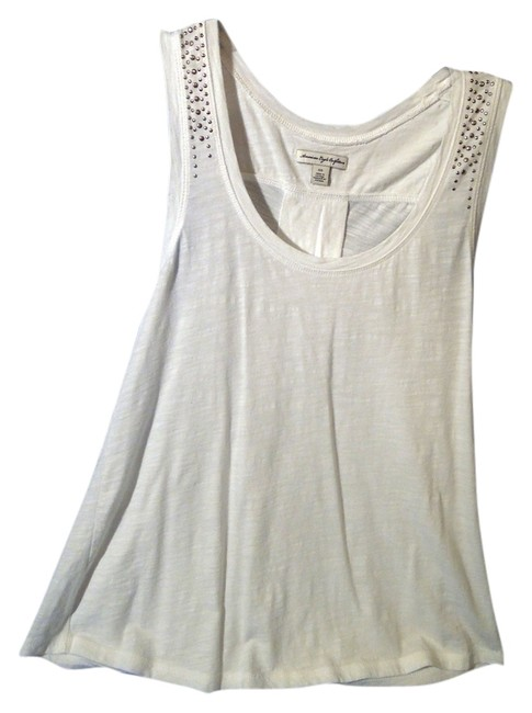 Preload https://item4.tradesy.com/images/american-eagle-outfitters-tank-top-white-and-silver-3822238-0-0.jpg?width=400&height=650
