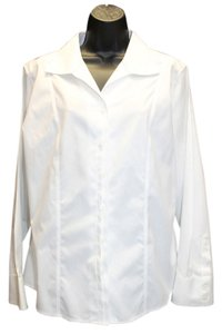 Chico's .white Cotton Blouse Button Down Shirt