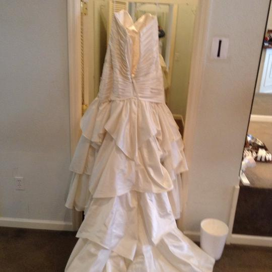 Allure Bridals Cream Satin Wedding Dress Size 20 (Plus 1x)