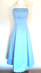 Alfred Angelo Blue Jay Satin Style 6904 Casual Bridesmaid/Mob Dress Size 12 (L)