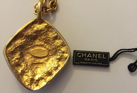 Chanel Vintage Chanel Rhombus Pendant Necklace with Box and Authenticity Tag