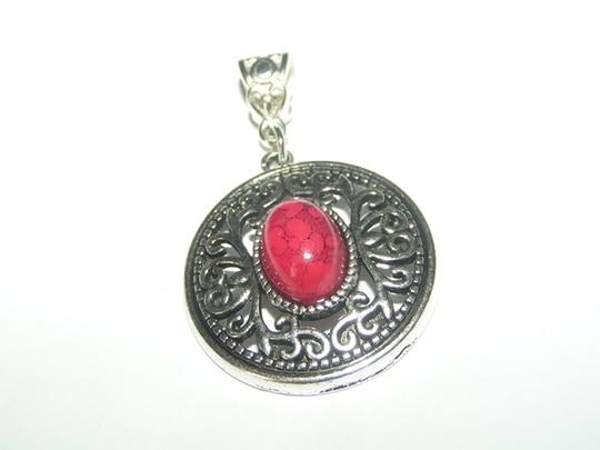 Silver/Red Bogo Free Antiqued Pendant W/Free Ssp Chain Your Choice Necklace