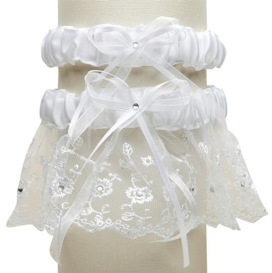 Preload https://img-static.tradesy.com/item/3823189/mariell-white-embroidered-wedding-garter-sets-with-scattered-crystals-g021-w-w-0-0-540-540.jpg