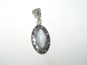 Silver/White Bogo Free Faux Turquoise Pendant W/Free Ssp Chain Your Choice Necklace