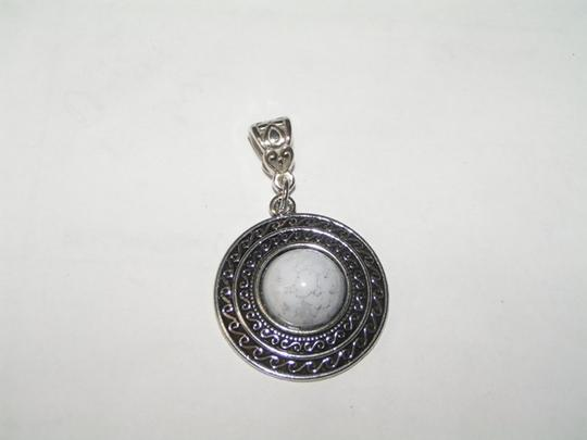 Silver/White Bogo Free Faux Turquoise Pendant W/Ssp Chain Choice Of Length Necklace