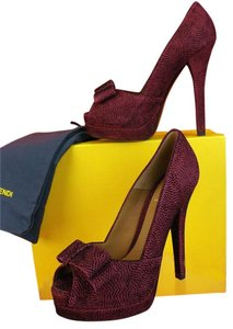 Fendi Dark Red/Black Pumps