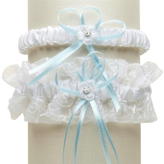 Preload https://img-static.tradesy.com/item/3823432/mariell-whiteblue-vintage-wedding-garter-set-with-floral-embroidered-tulle-g018-bl-w-0-0-540-540.jpg