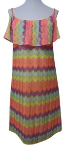 Lilly Pulitzer short dress Multi Colored Chevron Gauze Laya Neon on Tradesy