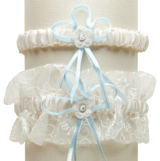 Preload https://img-static.tradesy.com/item/3823483/mariell-ivoryblue-vintage-wedding-garter-set-with-floral-embroidered-tulle-with-g018-bl-i-0-0-540-540.jpg