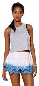 Urban Outfitters Dip Dye Eyelet Skort Blue & White Ombre