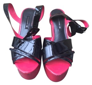 H&M black and pink Platforms
