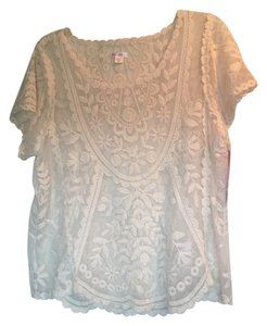 Xhilaration Target Lace Cream Summer Juniors Top