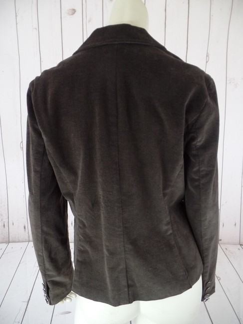 Calvin Klein Medium Button Front Lined Long Sleeves Cotton Elastane Stretchy Blend Pockets Great With Jeans Metal Buttons Engraved Brown Wale Corduroy Blazer