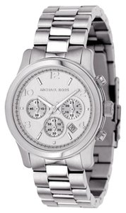 Michael Kors Michael Kors Silver Dial Midsized Silver Tone Chrono Ladies Watch