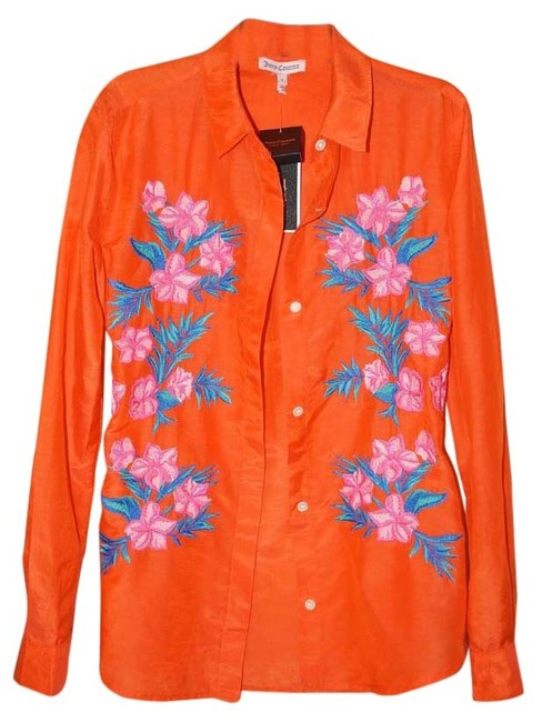 Preload https://item5.tradesy.com/images/juicy-couture-coralmulticolor-closs-embroidered-shirt-style-jg008173-blouse-size-2-xs-3823879-0-2.jpg?width=400&height=650