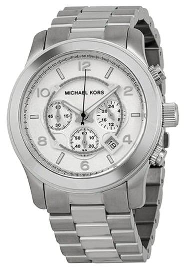 Michael Kors Michael Kors Silver Dial Silver Tone Oversized Ladies Watch