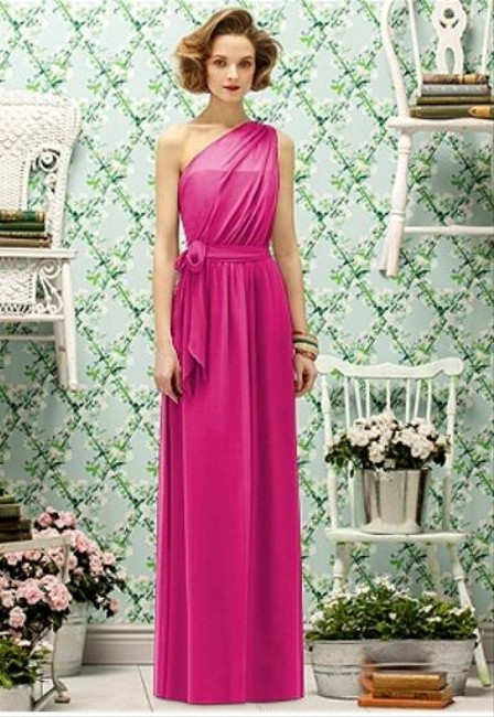 Lela Rose Full Length Chiffon Dress