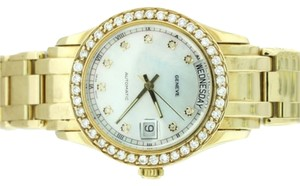 Geneve Geneve 14K Gold & Diamond Masterpiece Womens Watch