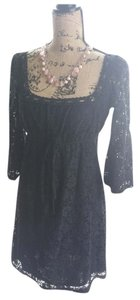 Laundry by Shelli Segal short dress Black Lace Bell Sleeves Fully Lined on Tradesy