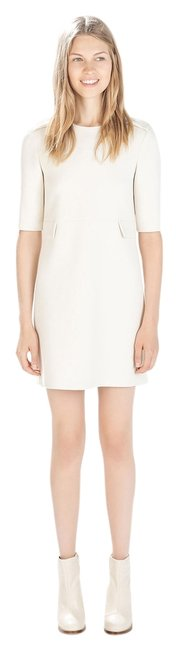 Zara White Military Career Work Dress