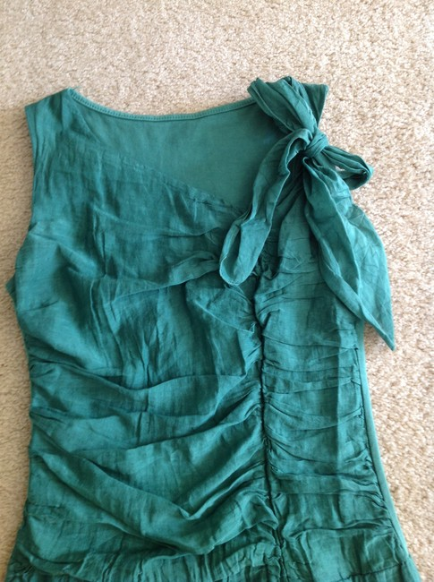 Other short dress Green Crinkle Fabric on Tradesy