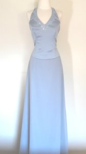 Alfred Angelo Cornflower Satin / Chiffon Style Formal Bridesmaid/Mob Dress Size 8 (M)