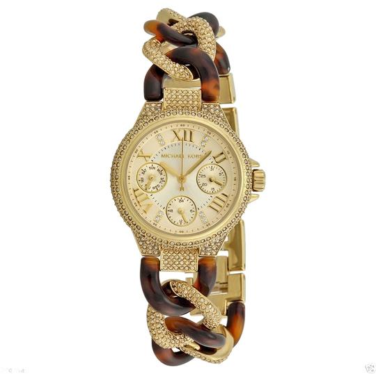 Michael Kors Michael Kors Petite Mini Crystal Pave Champagne Dial Tortoise and Gold Ladies Watch