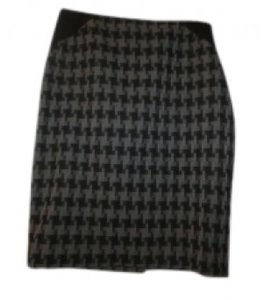 The Limited Houndstooth Pencil Skirt Grey, Black, Gray