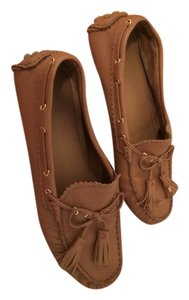 Coach Leather Moccasins Brown Flats