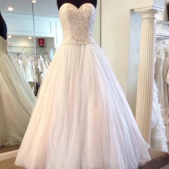 Allure Bridals Blue/Ivory Tulle Dress Size 10 (M)