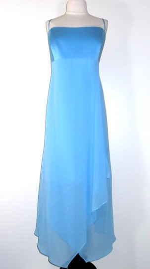 Alfred Angelo Blue Jay Chiffon / Satin Style 6343 Casual Bridesmaid/Mob Dress Size 20 (Plus 1x)