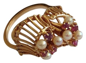 Other 14k Gold Ruby & Pearl Ring.