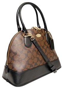 Coach Sale Discount Outlet Satchel in Black Brown