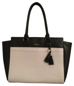 Cole Haan Leather Tote in Black & White
