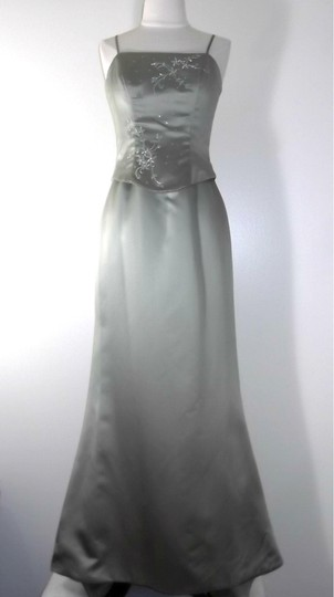 Alfred Angelo Celadon Satin Style 6518 Formal Dress Size 4 (S)