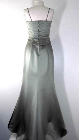 Alfred Angelo Celadon Satin Style 6518 Formal Bridesmaid/Mob Dress Size 4 (S)