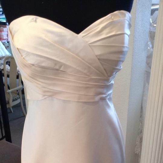 Casablanca Ivory Satin Wedding Dress Size 10 (M)