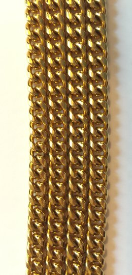 Chanel Chanel Vintage Gold Chain Bracelet with Quilted Pendant