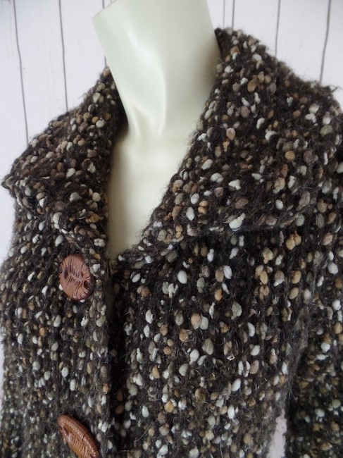 Other Sweater Long Wool Blend Textured Snap Front Medium Coat