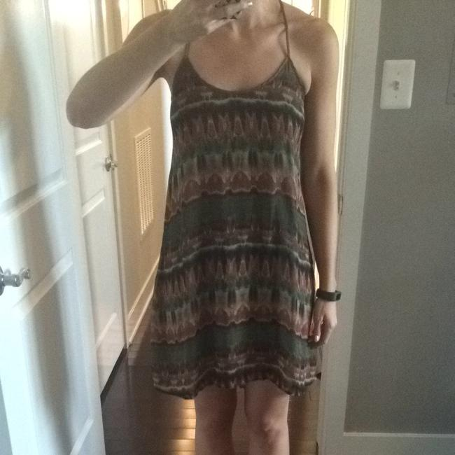 Forever 21 short dress Brown/green/red on Tradesy