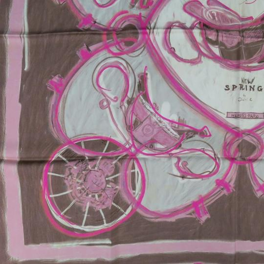 Hermès HERMES -New Springs- Pink Silk Scarves
